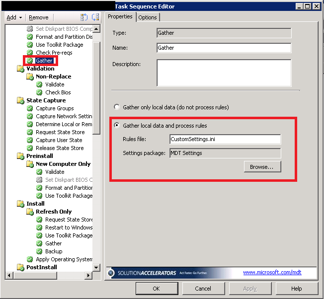 Using Webservice in SCCM and MDT