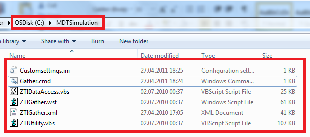 Creating a test environment for MDT