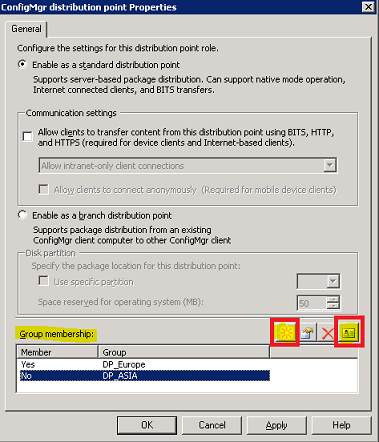 Grouping Distribution Points in ConfigMgr 2007