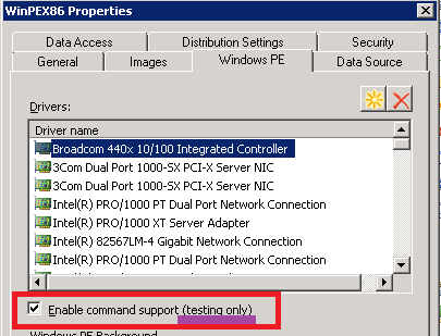 Recovering Network Access Account Password for SCCM in WinPE
