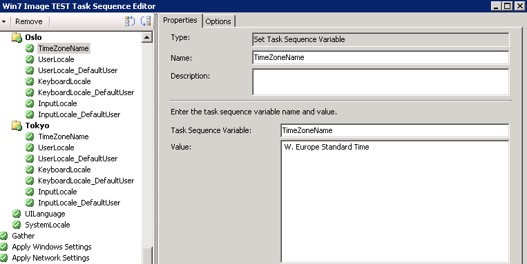 Using different Locale Variables OSD