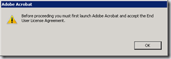 Strange / funny Adobe Reader error