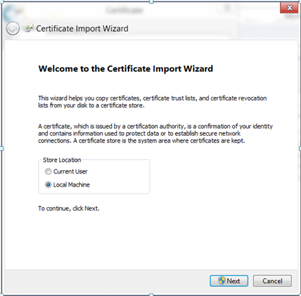 Nice Windows 8 Import Certificate feature