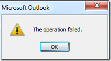 Operation failed when trying to open address lists in Outlook