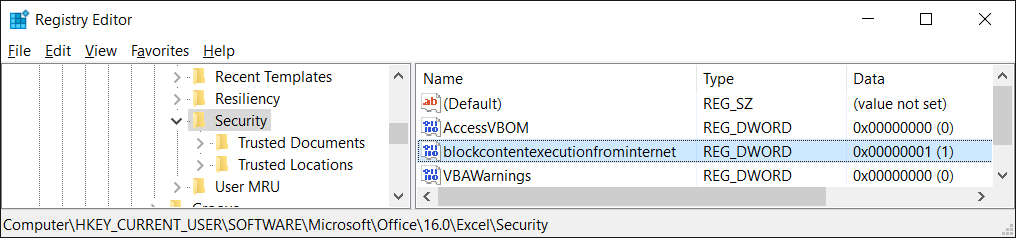 New macro security setting in Office 2016 | MSitPros Blog