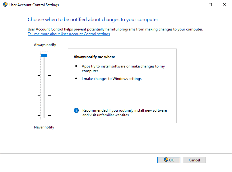 Showing UAC bypass the GUI way | MSitPros Blog
